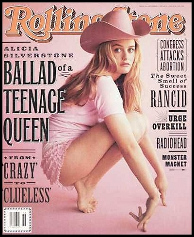 Cover girl Alicia Silverstone in Rolling Stone magazine, 1995.