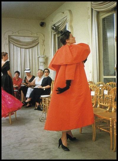 Balenciaga coat, 1950s.