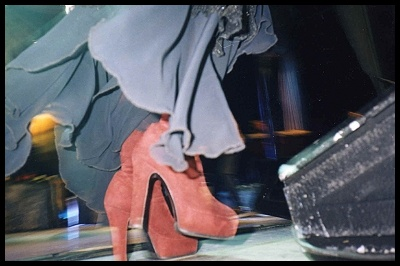 Stevie Nicks in boots.