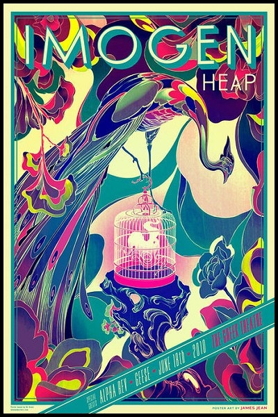 Imogen Heap poster with peacock